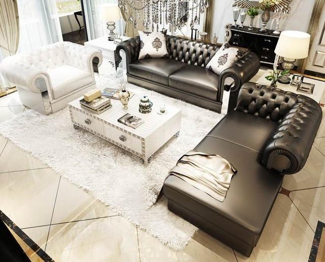 sofa lounge for living room livingroom furniture 3 piece leather sofa set (1 seater, 3 seater, lounge ) OFAZZMR