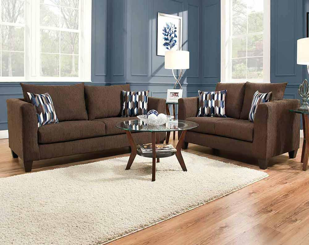 Sofa loveseat camino chocolate sofa u0026 loveseat GSQCVJH