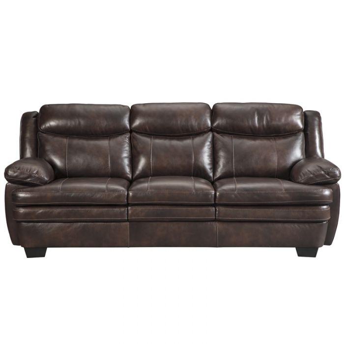 sofa loveseats ashley hannalore brown leather sofa XBLOWWD