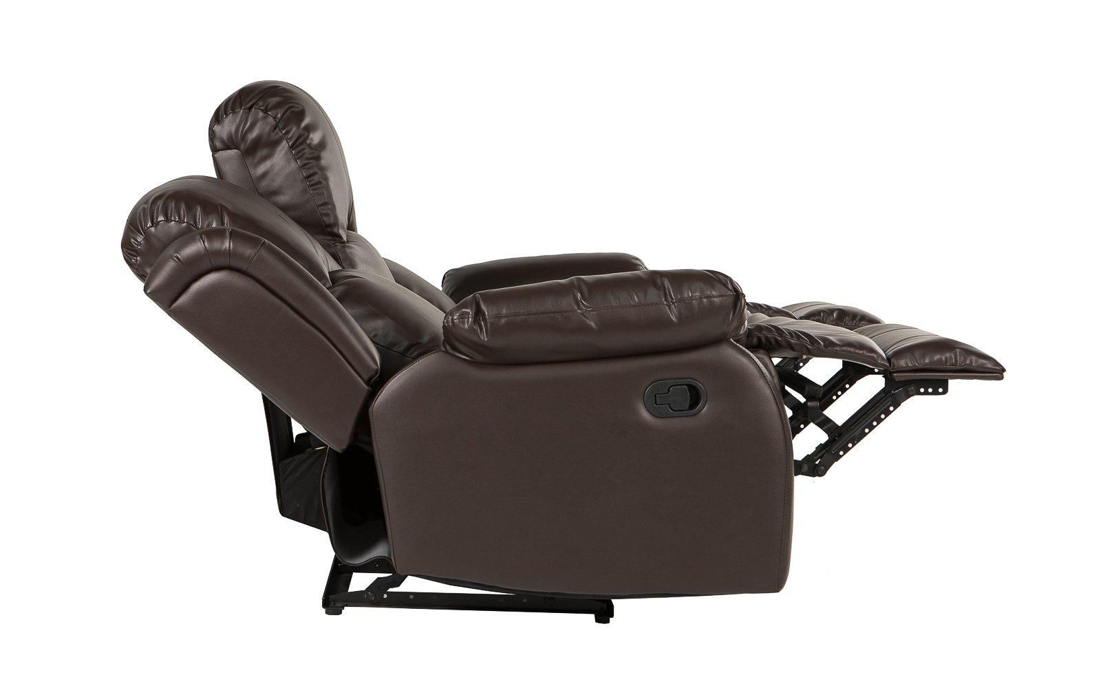 Sofa recliner ... bob classic bonded leather recliner sofa side profile DAQXODW