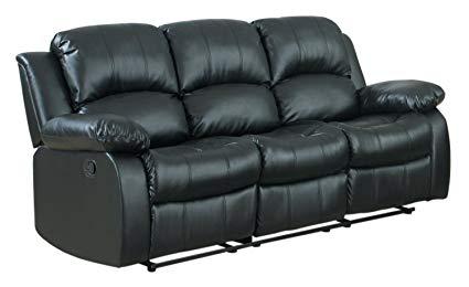 Sofa recliner bonded leather double recliner sofa BYFEVBM