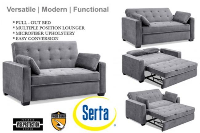 sofa sleeper grey-augustine-serta-dream-rise-sleeper-lounger-u0026- JWIVJKU
