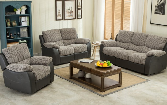 Sofa suites swindon fusion 3+2 recliner sofa suite FNQDYJP