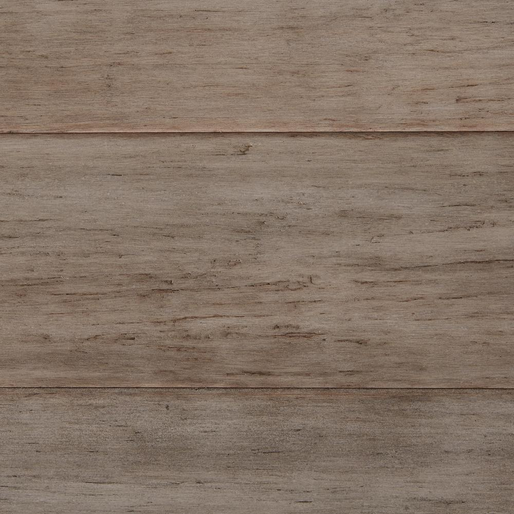 solid bamboo flooring home decorators collection hand scraped strand woven earl grey 3/8 in. t x QHOSIRN