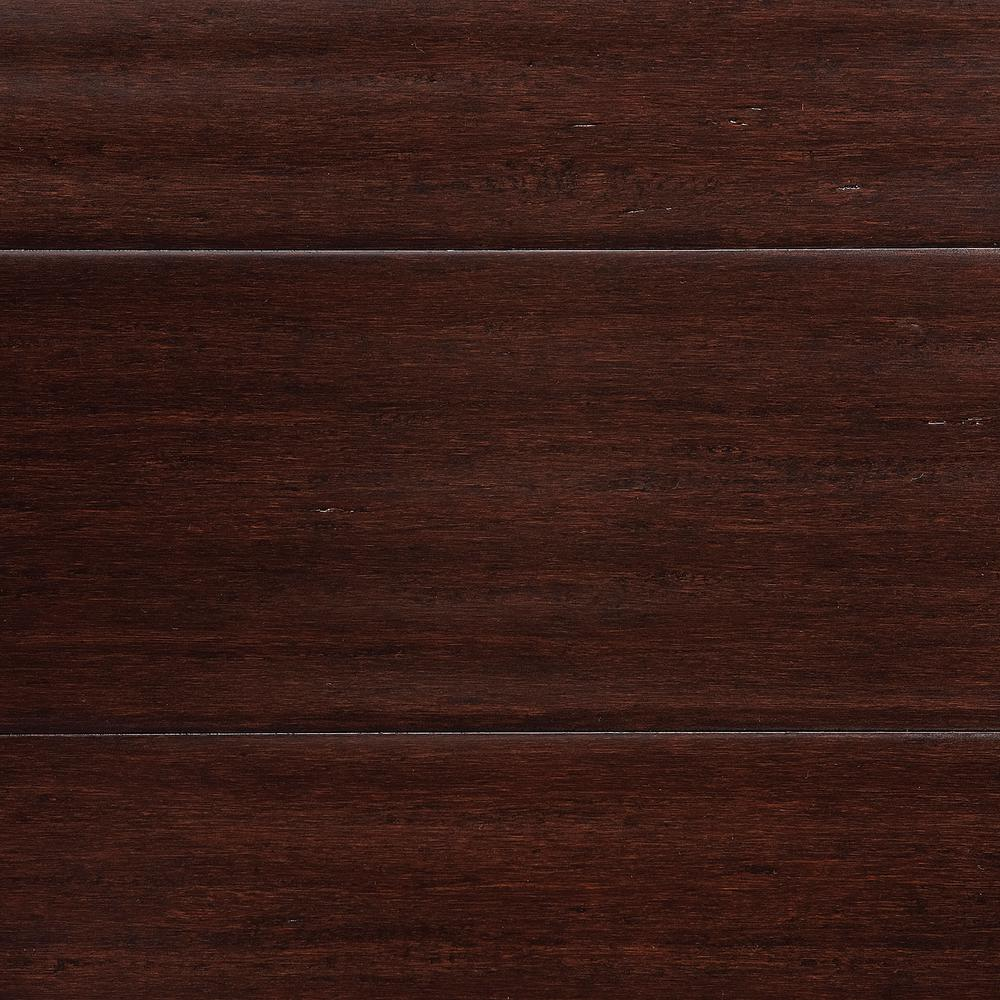solid bamboo flooring home decorators collection hand scraped strand woven walnut 1/2 in. t x 4.92 YDBWMOD