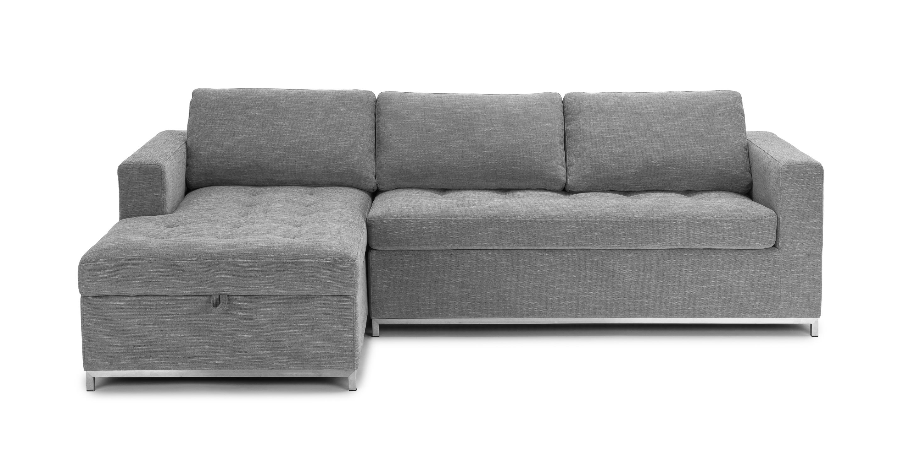 soma dawn gray left sofa bed - sectionals - article | modern, mid-century OOPPTVN