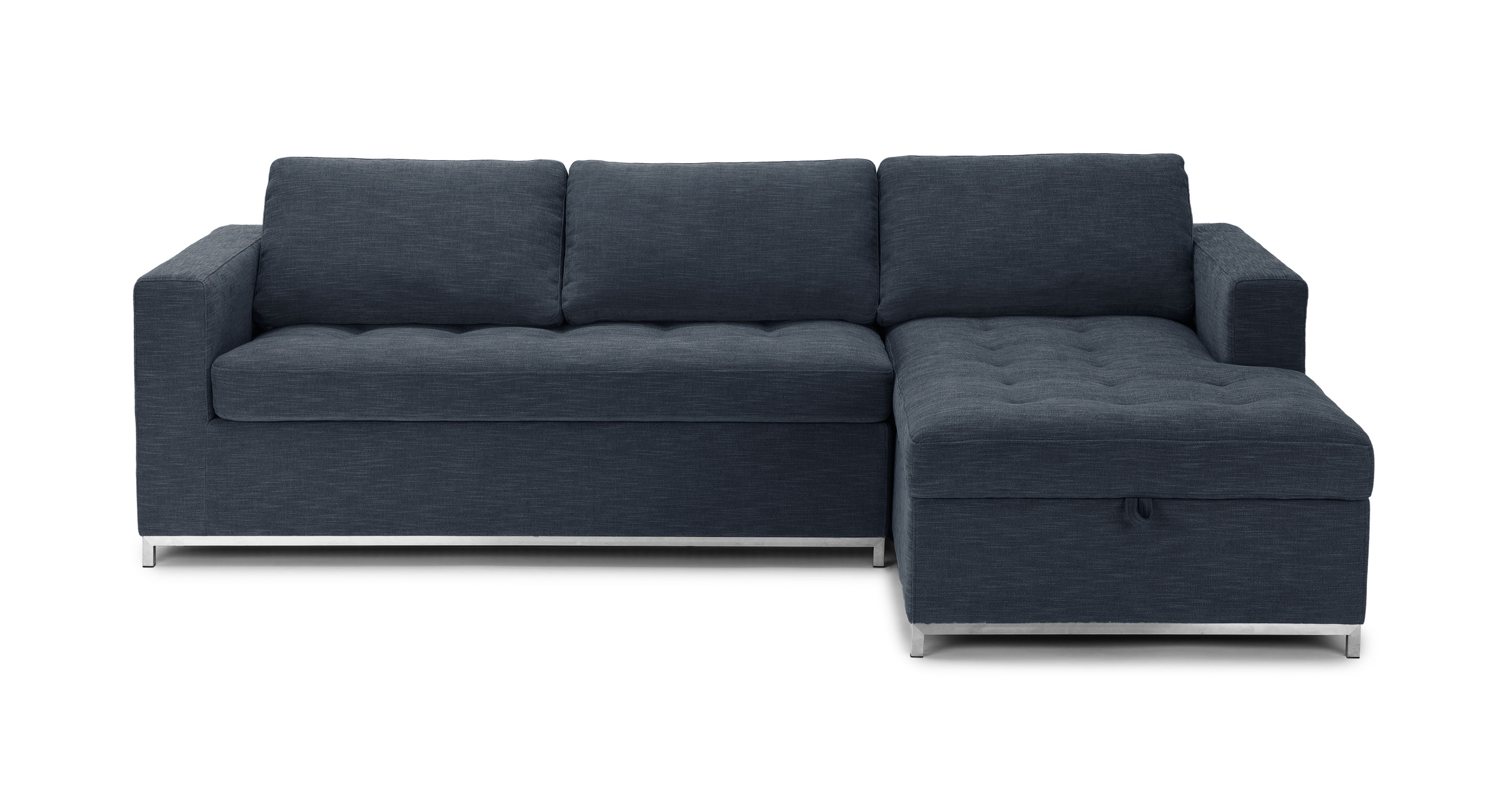 soma dawn gray right sofa bed - sectionals - article | modern, mid-century DJXNDSY