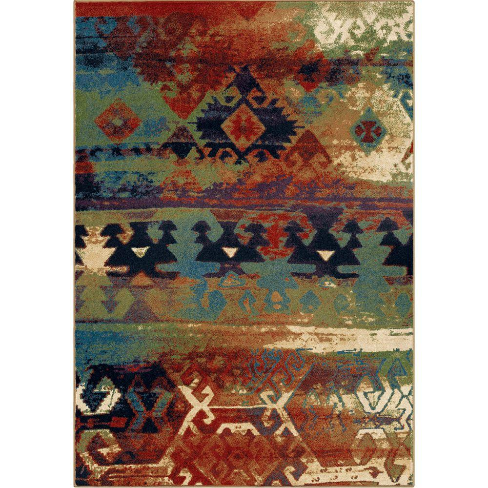 southwest rugs orian rugs southwest dreamcatcher multi red 8 ft. x 11 ft. indoor area DSXINUP