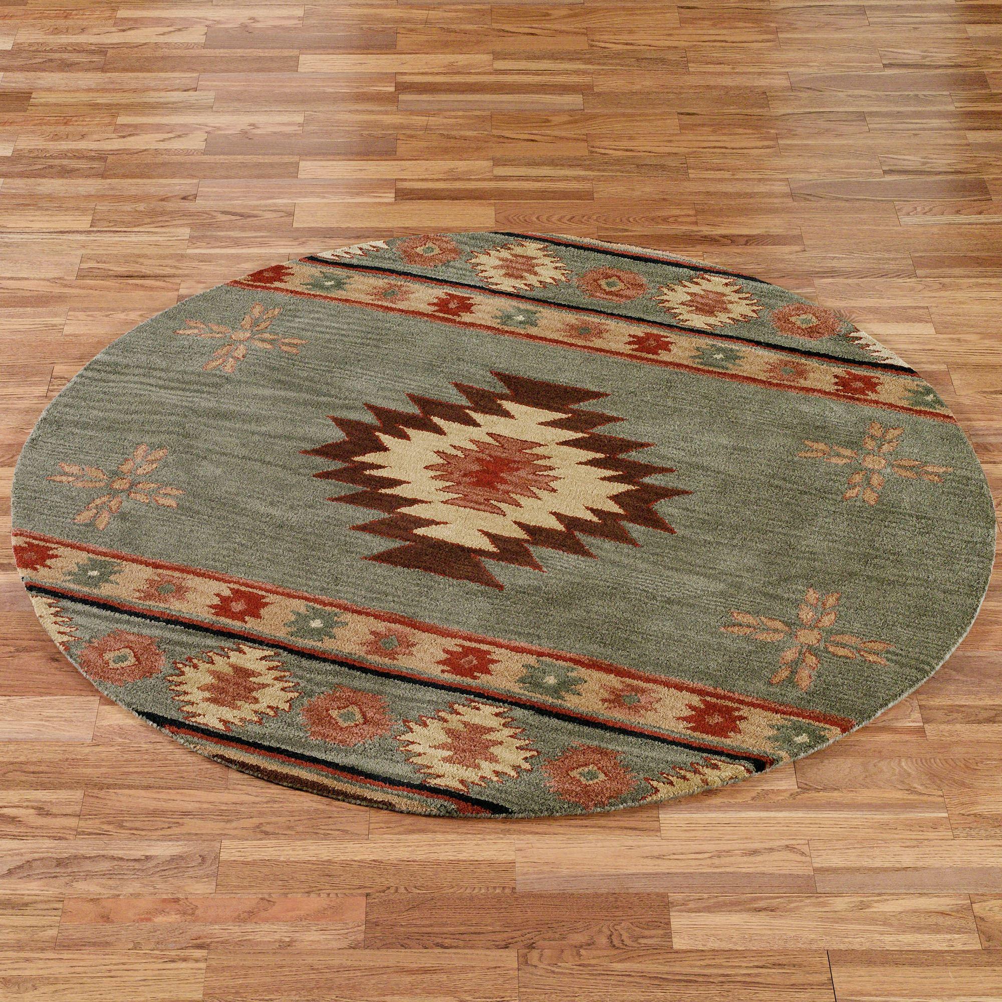 southwest rugs southwest diamond round rug LXAOBSY