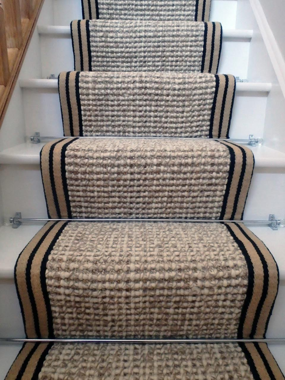 stair carpets stair runner carpet wool hemp. wool hemp black border wool hemp striped FKJXGFX