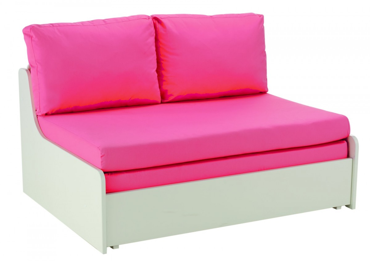 stompa unos double sofa bed - pink ... NZWYTHL
