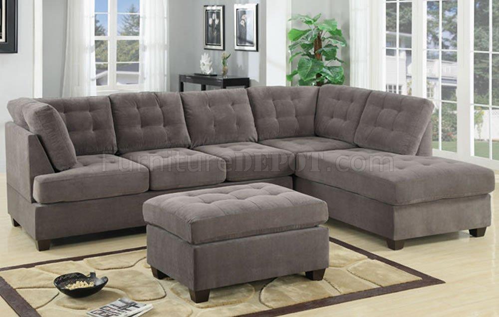 stunning grey microfiber sectional sofa fabric sectionals microfiber  sectional sofas microsuede AGXZXFI