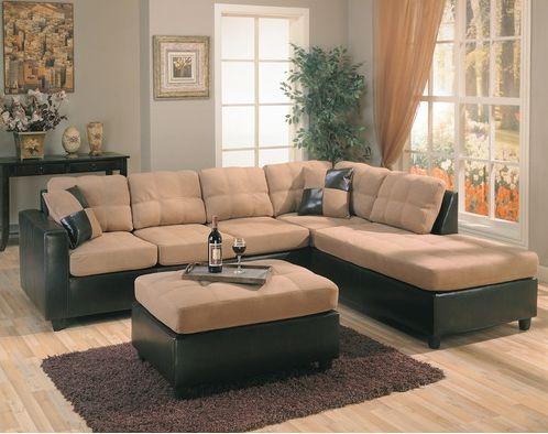 the elegant wildon home bailey microfiber sectional sofa SRARVSG