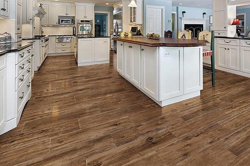 Tile hardwood wood look tile kitchen flooring MAIFKTQ