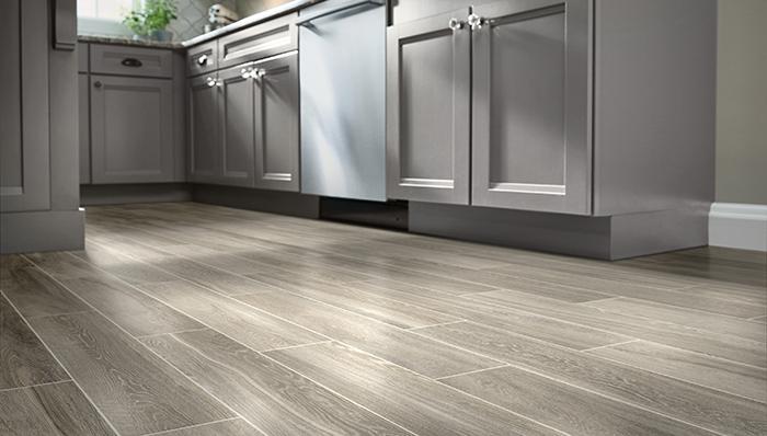 Tile hardwood wood tile flooring imitates wood in planks with light, dark or distressed DUKMMOI