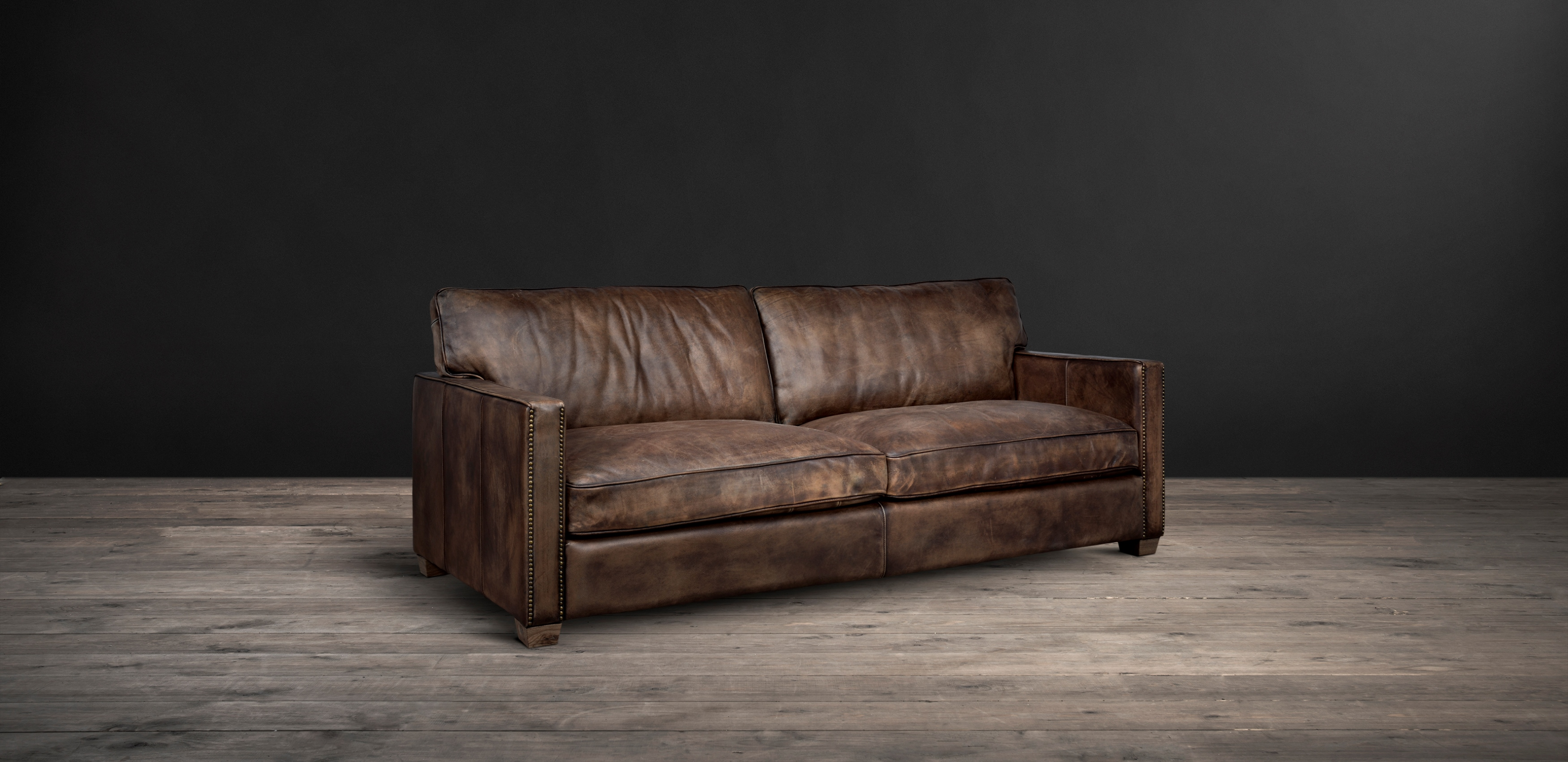 timothy oulton classic leather sofa - viscount william leather sofa from  side NNVVTBL