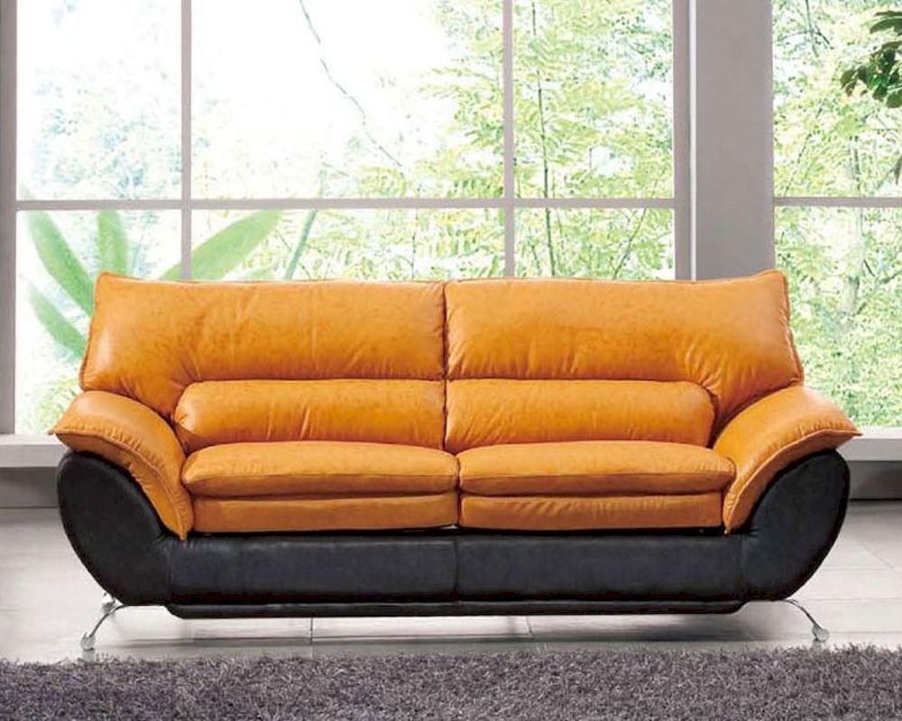 two tone italian leather sofa bed european design 33ss222 DLWSDWN