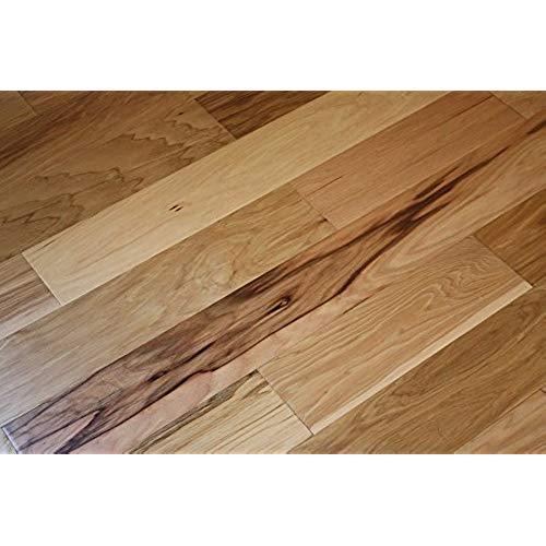 unfinished hardwood flooring elk mountain hickory natural 5 x 3/8 hand scraped engineered hardwood  flooring QIFVCZQ