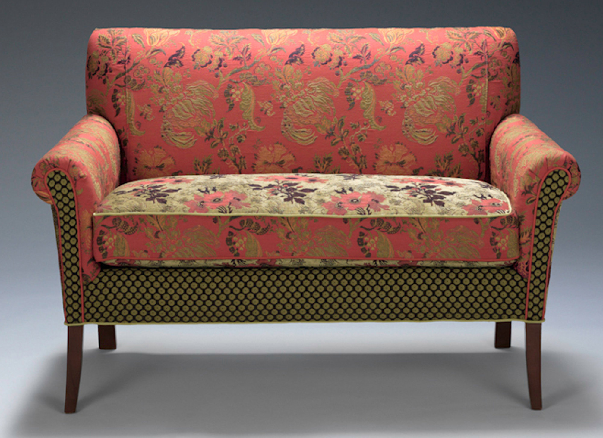Upholstered sofa salon settee in melody rustic by mary lynn ou0027shea (upholstered sofa) | AUQMMOB