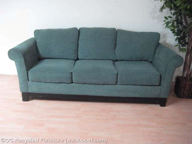 used sofa ... turquoise green la-z-boy fabric sofa thumbnail 3 ... CVVQSAM