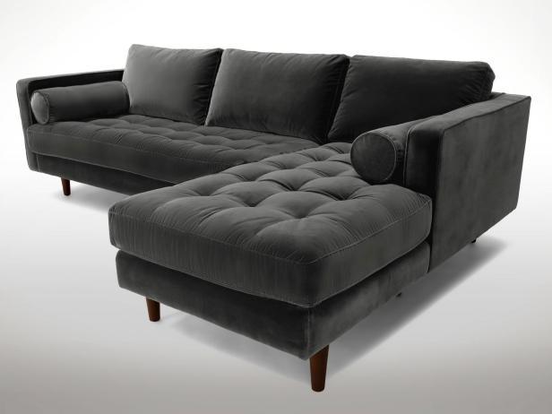 velvet sofa 2. gray tufted sectional XBWRTHU