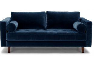 velvet sofa sven grass green 72 SFXBIOK