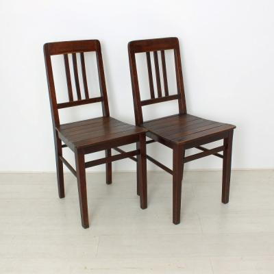 vintage wooden chairs, 1920s, set of 2 1 BZFCFOO