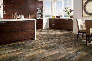 vinyl hardwood flooring open-plan contemporary kitchen with striking wood floor QEWYDAP
