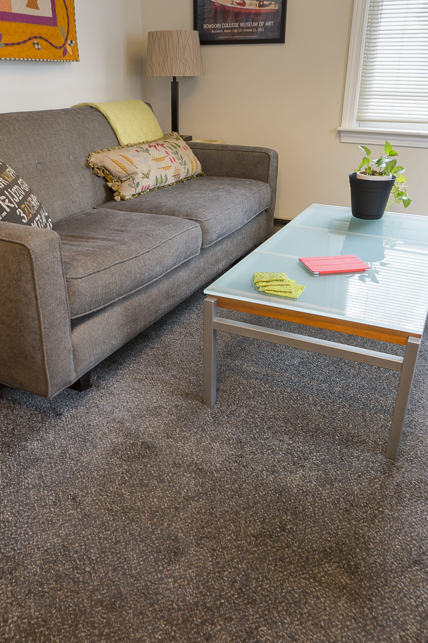 wall to wall carpets portland condo living, den, wall to wall carpet, plush, browns, shaw IQNHNCX