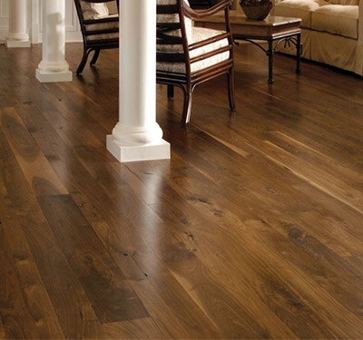 Walnut flooring spacious room with walnut plank floors NDXLEGV