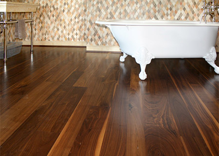 Walnut flooring walnut being used on a bathroom floor CGVBWHF