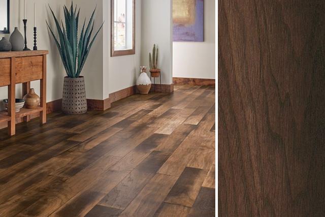 walnut floors walnut flooring in a hallway: artisan collective - crafted warmth -  eawac75l402 SMVEQGH
