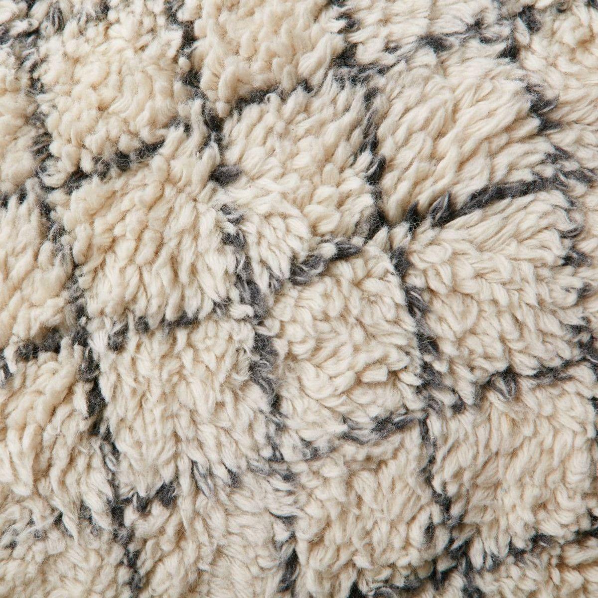 watercolour trellis wool shag rug - ivory SHRGHXM