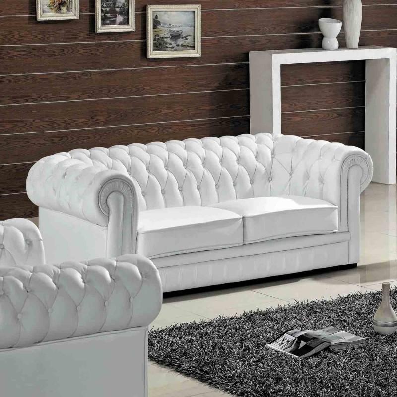 White leather sofa madeline leather sofa GEPHCPB