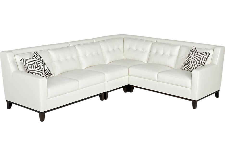 White leather sofa reina point white leather 4 pc sectional IJMBVJB