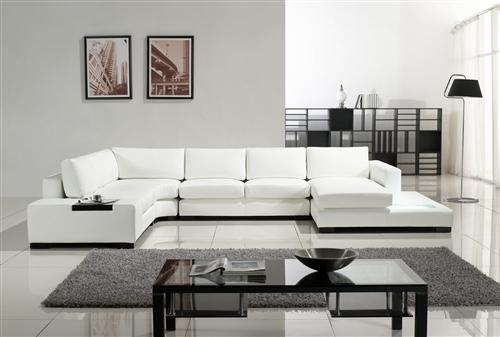 white sectional sofa alternative views: XIKNBZP