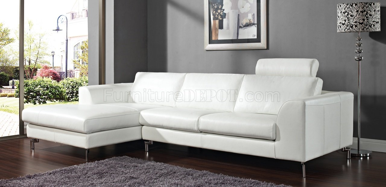white sectional sofa angela sectional sofa in white leather by whiteline IDODPHH