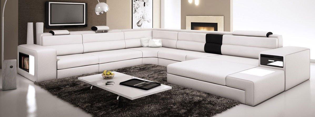 white sectional sofa interior, amazon com white contemporary italian leather sectional sofa  elegant couch quality NRRDUAC
