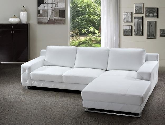 white sectional sofa modern sectional sofa in white leather modern-living-room BFEJVKL