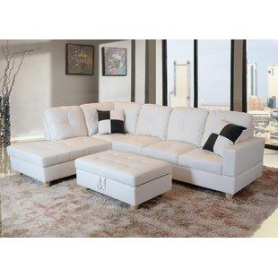 white sectional sofa save EKBHRNZ