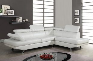 white sectional sofa u9782 sectional sofa in white bonded leather by global ZDIOUCH