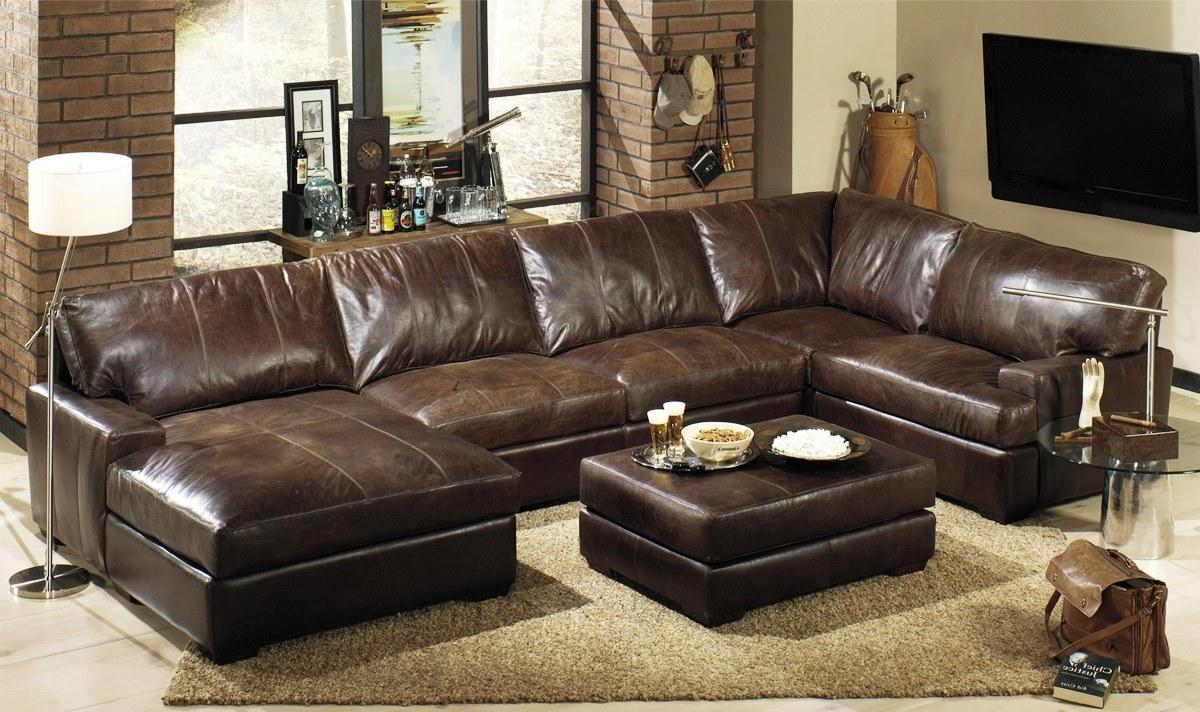 wonderful leather sectional sofa OHULXUN