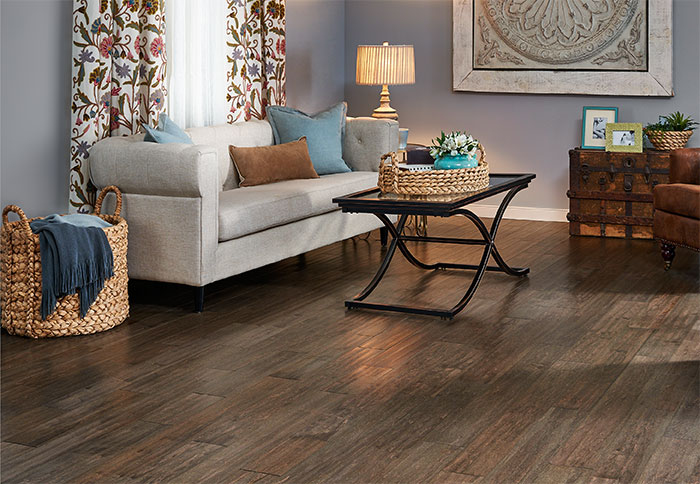 wood flooring ideas engineered flooring with an aged look in a living room. UBCGTFE