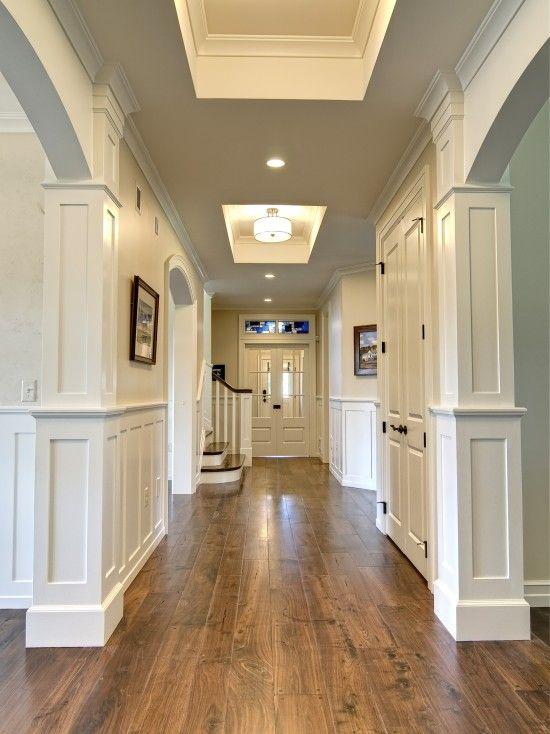 wood flooring ideas walnut hardwood floors against white walls and doors - beautiful DRRISGM