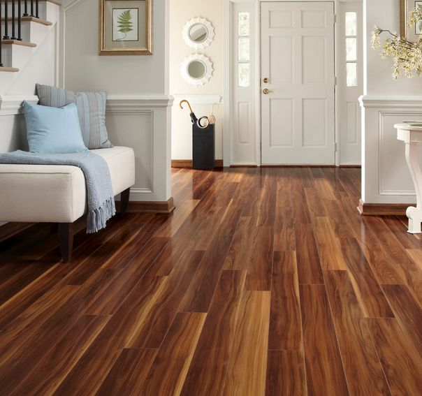 The beauty of the wood laminate flooring