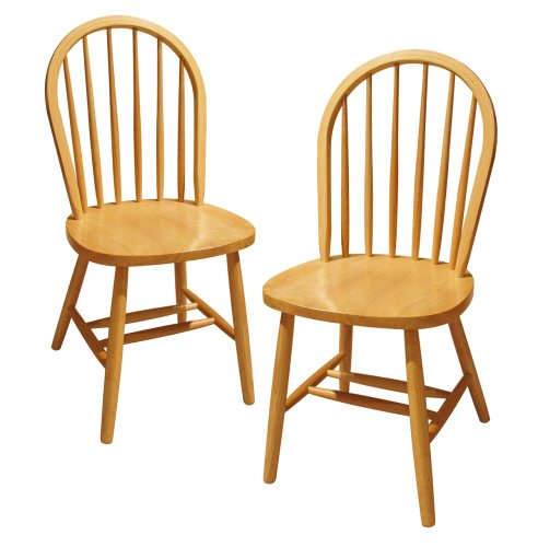 wooden chairs amazon.com - winsome wood windsor chair, natural, set of 2 - chairs GRWOHTP