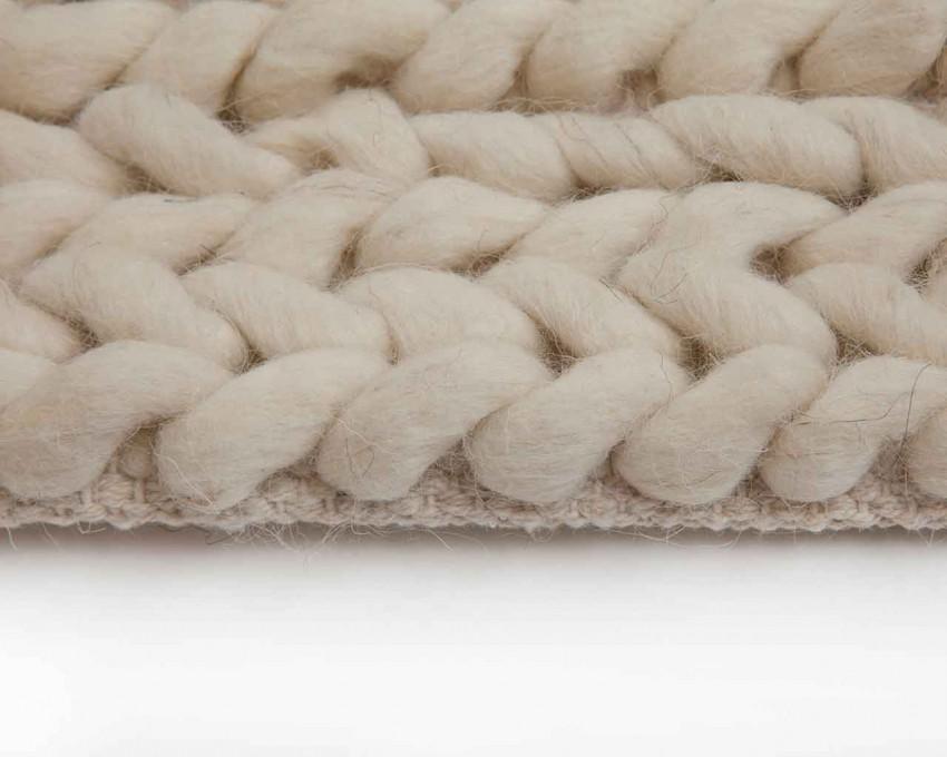Wool carpet white braided wool carpet designer RDZHERK