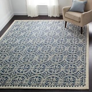 wool rugs safavieh handmade moroccan cambridge navy blue wool rug (more options  available) JYWCEPK