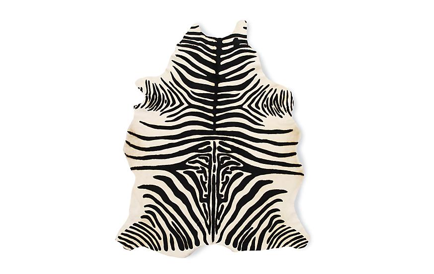 zebra rug edelman® leather zebra cowhide rug ZPFIFQD