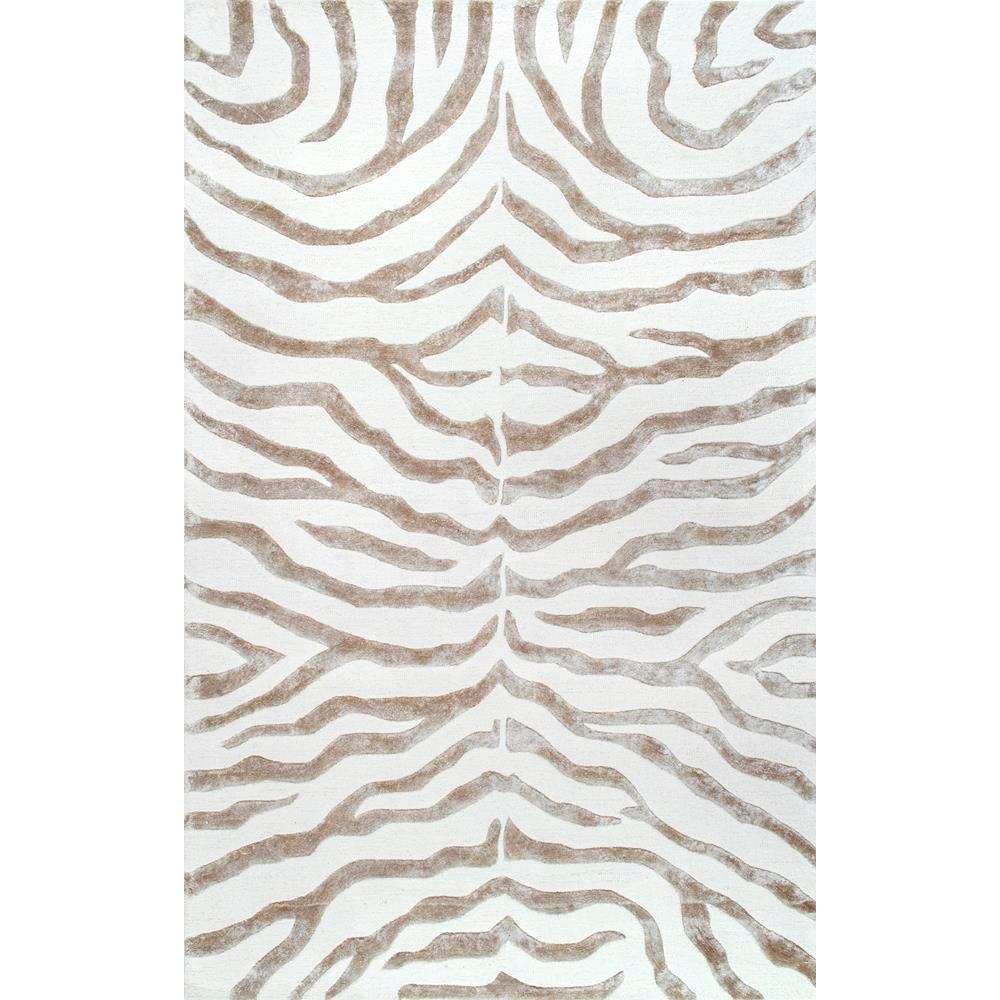 zebra rug nuloom plush zebra grey 10 ft. x 14 ft. area rug RGOCRTE